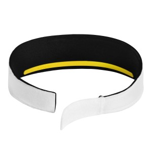 Halo V Velcro SweatBlock Headband - White